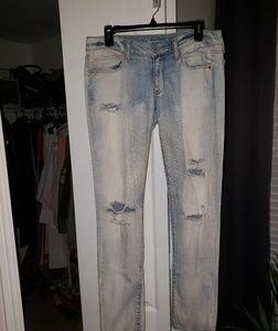 Like New American Eagle Skinny Ripped Jeans